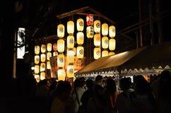 Lantaarns van Gion-festivalparade in de zomer, Kyoto Japan Stock Foto