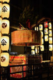 Lantaarns van Gion-matsuriparade in de zomer, Kyoto Japan Stock Fotografie