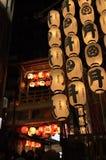 Lantaarns van Gion-matsuriparade in de zomer, Kyoto Japan Stock Foto