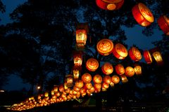 Lantaarns van Promenade Jinli Royalty-vrije Stock Afbeeldingen