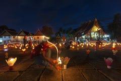 Lantaarns in Wat Xiengthong royalty-vrije stock afbeelding