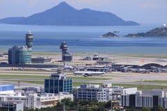 Lantau airport facing the sea. In Hong Kong royalty free stock photography