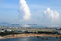 Lantau airport and reclamation Royalty Free Stock Photography
