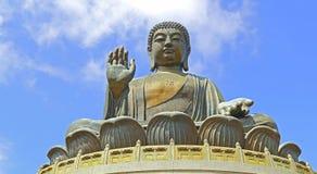Lantau bronzeado buddha de Tian, Hong Kong Fotos de Stock Royalty Free