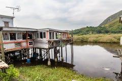 Lantau-Insel Hong Kong Fischerdorf Tai O Stockbild