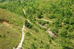 Lantau Island. Aerial view on Lantau Island. may be use like background Stock Images