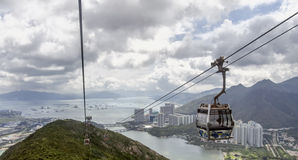 Lantau island hong kong. Aerial view from cable car at lantau island hong kong Stock Image