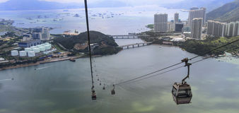 Lantau island hong kong. Aerial view from cable car at lantau island hong kong Royalty Free Stock Photo