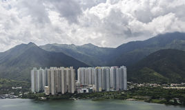 Lantau island hong kong. Beautifil aerial view of lantau island in hong kong Stock Photo