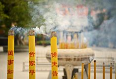 Lantau Island Temple Royalty Free Stock Images