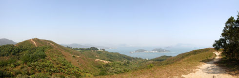 Lantau Island. View on mountains of Lantau island in Hong Kong Royalty Free Stock Photos