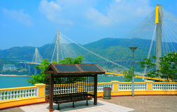 Lantau link observation deck, hong kong Royalty Free Stock Image