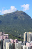Lantau Peak above Tung Chung city Stock Images
