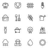 Lantbruk- och jordbruksymbol Arkivfoton