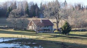 Lantbrukarhem i Jura, Frankrike Royaltyfri Fotografi