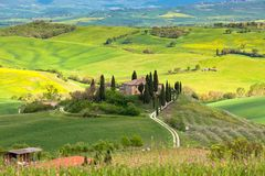 Lantbrukarhem i Tuscany Royaltyfri Foto