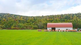 Lantbrukarhem med höstkullen Royaltyfri Fotografi
