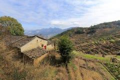 Lantbrukarhem på berget Royaltyfri Fotografi
