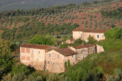 lantbrukarhem tuscan Fotografering för Bildbyråer