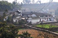 Lantbrukarhemmet av kinesiska byar Royaltyfri Fotografi