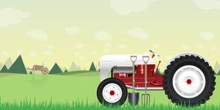 Lantbruktraktorillustration Vektor Illustrationer