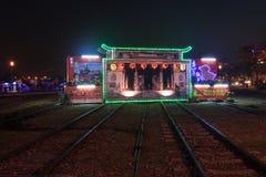 Lanter-Festival in Kaohsiung, Taiwan durch die Kunstmitte des Piers 2 Lizenzfreies Stockbild