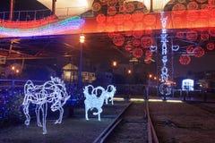 Lanter-Festival in Kaohsiung, Taiwan durch die Kunstmitte des Piers 2 Stockfotografie