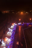 Lanter-Festival in Kaohsiung, Taiwan durch die Kunstmitte des Piers 2 Stockbild