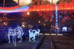 Lanter festival in Kaohsiung, Taiwan by the Pier 2 art center. Stock Photography