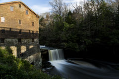 Lanterman's Mill Falls - Youngstown, Ohio. One of Mahoning County's most historic landmarks, Lanterman's Mill was built in 1845-46 by German Lanterman and Stock Images