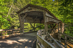 Lanterman Falls Covered Bridge Royalty Free Stock Photo