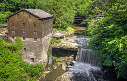 Lanterman's Grist Mill. The historic Lanterman's Mill in Mill Creek Park in Youngstown Ohio. Built in 1845 and restored in 1982-1985. The mill still operates Royalty Free Stock Photo