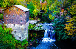 Lanterman's Mill in the Fall Stock Image