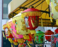 Lantern 1. A colorful lanterns in chinatown new york royalty free stock photography