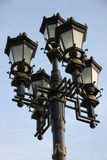 Lantern. Ancient pig-iron street lantern in the street Moscow Stock Photos