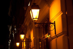 Lantern. Beautiful lantern at night in the street stock images