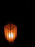 The Lantern. Oriental lantern lit by candle Royalty Free Stock Image