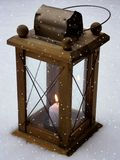 Lantern. Image of Lantern in the snow Royalty Free Stock Photography