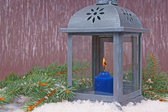 Lantern. Little lantern with a candle Royalty Free Stock Image
