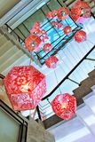 Lantern. Chinese carved lanterns and stairs Royalty Free Stock Photography