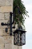 Lantern. Hanging on the wall stock image