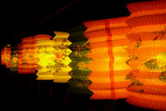 Lantern. A row of lantern Stock Images