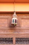 Lantern above the door of house in Marrakesh. Morocco. Lantern above the door of house in medina. Marrakech. Morocco Stock Images