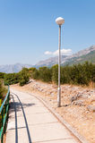 Lantern at the alley in Baska Voda Royalty Free Stock Photography