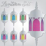 Lantern. Arabic lantern card in format royalty free illustration