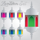 Lantern. Arabic lantern set in format vector illustration