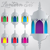 Lantern. Arabic Lantern set in format royalty free illustration