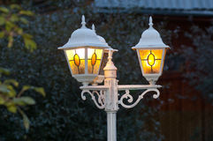 Lantern as an element of small forms of landscape and park architecture Royalty Free Stock Image