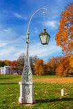 Lantern in autumn park Royalty Free Stock Image