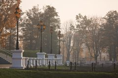 Lantern at autumn time, Kaliningrad Stock Photography